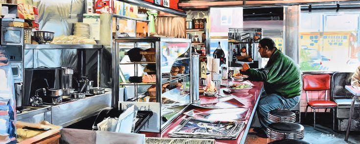 """NEW YORK 52"" By Socrates Rizquez 2017 - Enamels on melamine painting. Pintado con esmaltes sobre melamina. // Thanks to my eyes in NYC, Gary Burke."