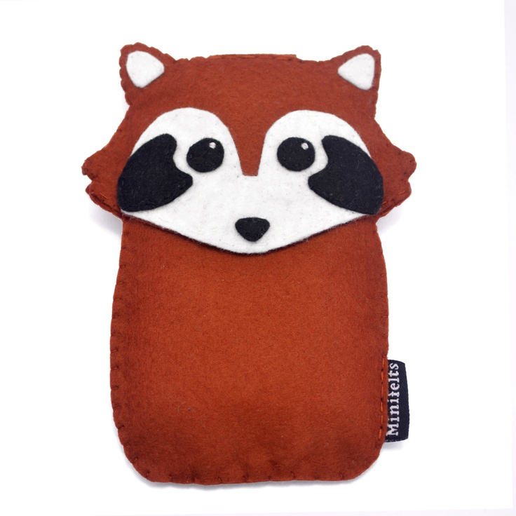 Felt iPhone Case Red Panda iPod Case Phone Case iPod Touch Case Blackberry Case....could use this idea for a mobile too. just the head though
