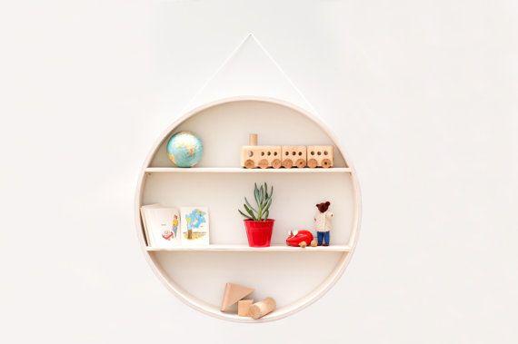 Lavage blanc boîte dombre circulaire affichage vintage par Senkki