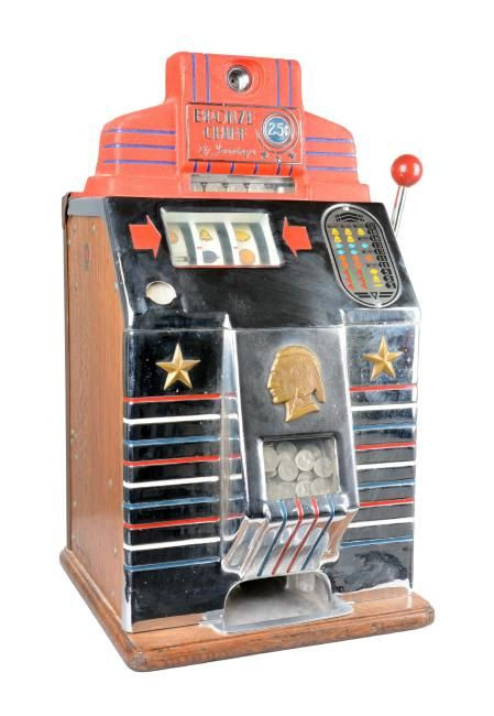**25¢ Jennings Bronze Chief Slot Machine : Lot 762
