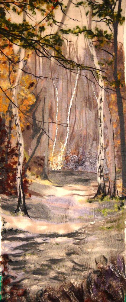Sherwood Forest. Pathway. Liz Emery - Felt Artist