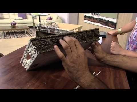 ДЕКОРИРОВАНИЕ И финишная отделка Mulher.com 04/06/2015 José Paulo Silva - Revestimento taça jornal trançado Parte 1/2