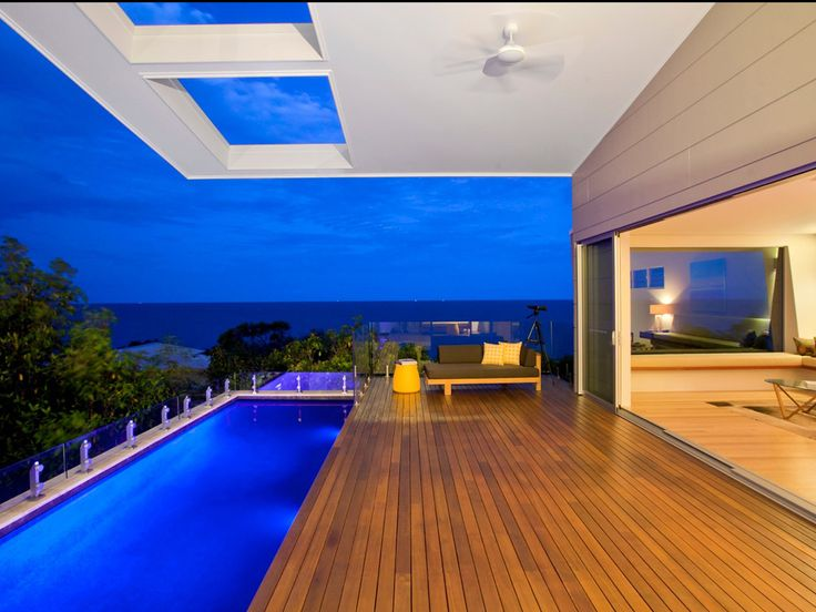 Coolum Beach House by Adoba Design Group. Features: Wide sheets of Scyon™ Stria™ cladding were used for the upper levels.