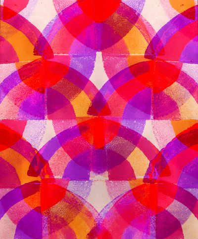 Press print and digital purple arches - Sarah Bagshaw