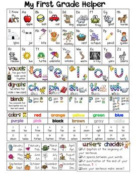 My First Grade Helper- great resource for homework folder $