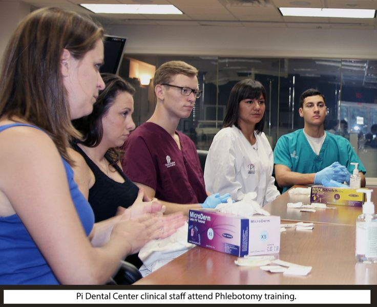 Pi Dental Center's clinical staff recently took part in a Phlebotomy training program to perfect their skill in drawing blood, which they do for the Platelet Rich Plasma (PRP) procedure. PRP accelerates healing and enhances bone growth, which in turn stimulates osseointegration of dental implants.