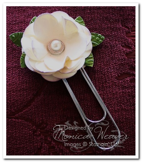 61 best stampin up paper flowers punch art images on pinterest stampin up paper flower monica weaver bookmark mightylinksfo Choice Image