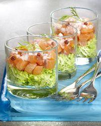 Gerookte zalm op een bedje van zalm - Colruyt Culinair !