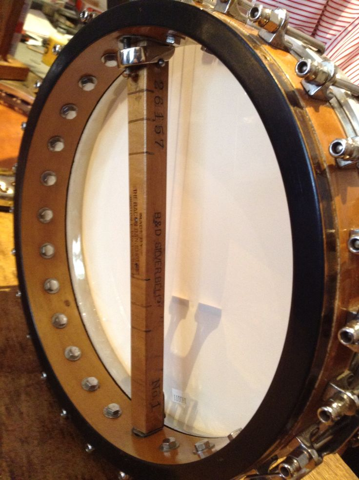 Bacon and Day Silver bell banjo. Internal view.