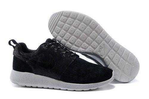 2014 brand roshe run 511882 330 black gray men running shoes