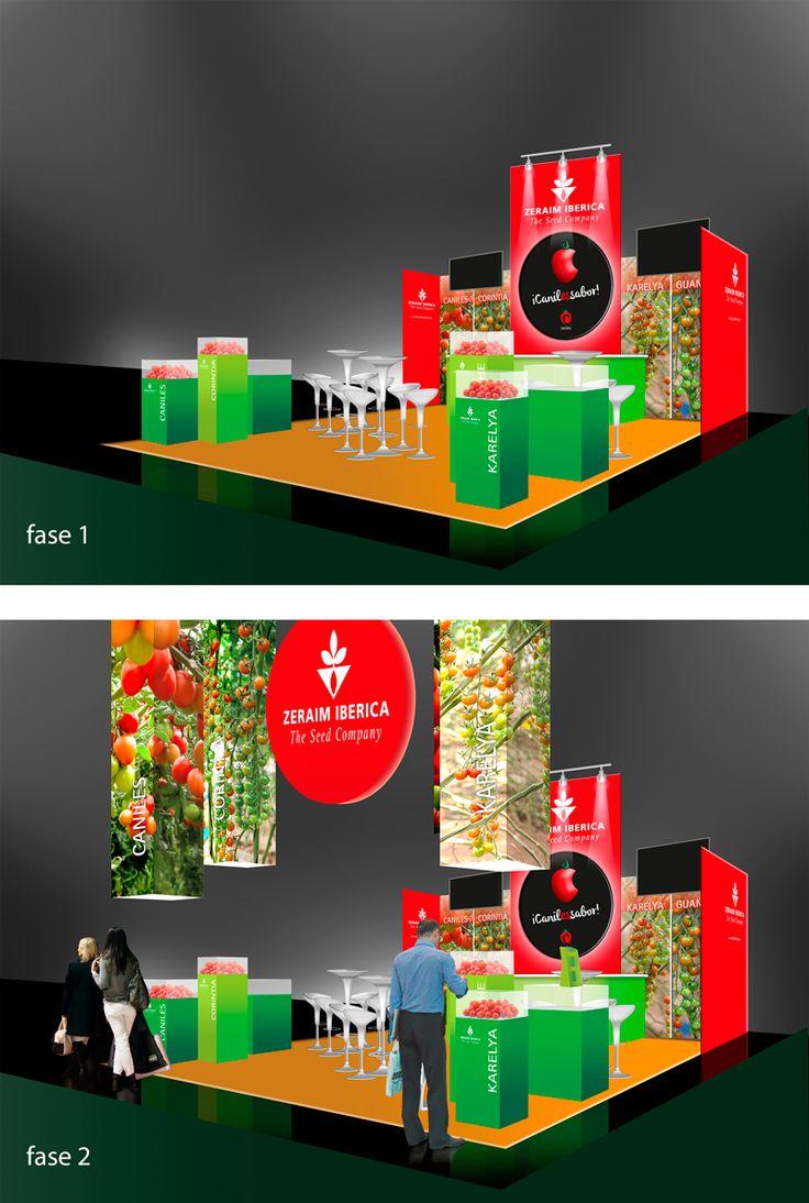 Diseño de stand para Feria de Horticultura. Realizado por eugeniaparra.es