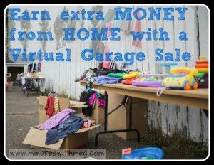 Do you have a lot of things around your house you could sell? Hate having a garage sale. Me too. A virtual garage sale is the answer. Earn extra money without leaving your house totally risk free.
