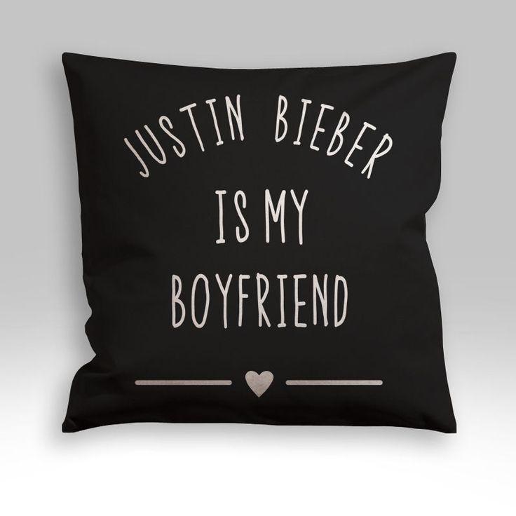 Justin Bieber is My Boyfriend Pillow Cover