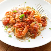 Spaghetti with Tomatoes & Shrimp: Fun Recipes, Easy, Tomato, Healthy Dinners, Spaghetti, Healthy Dinner Recipes, Food, Shrimp, Cheap