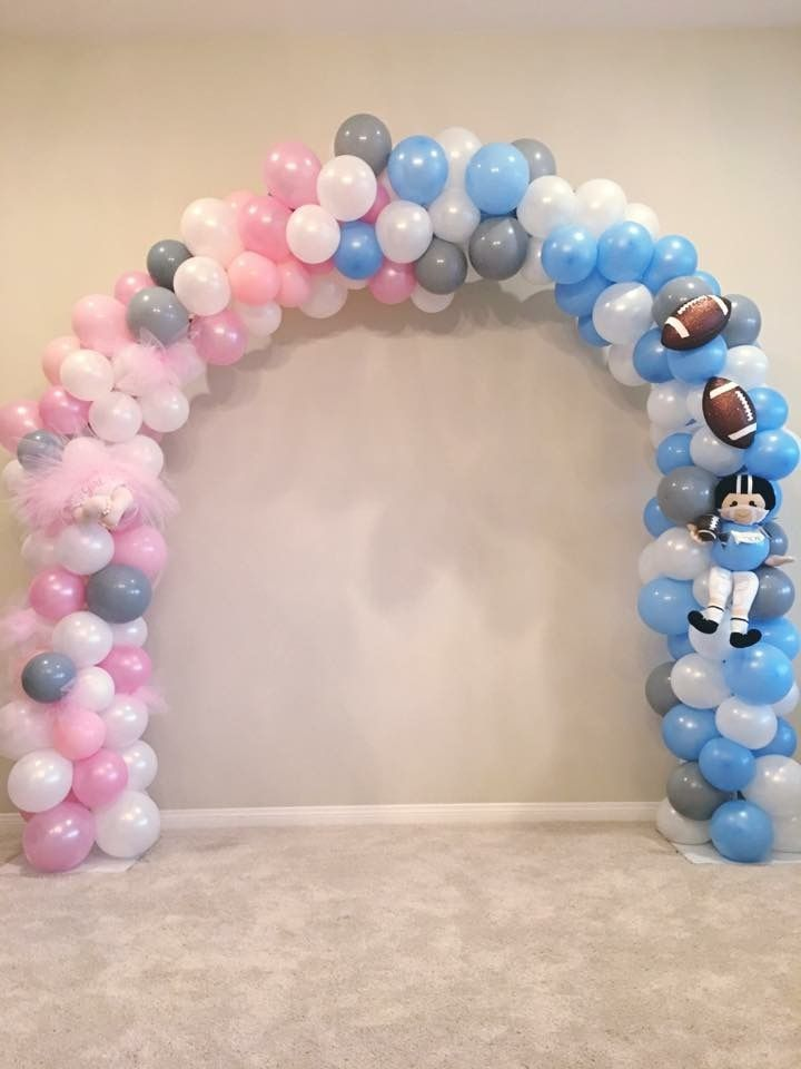 Gender Reveal Balloon Arch Gender Reveal Party Decorations Baby Gender Reveal Party Gender Reveal Balloons