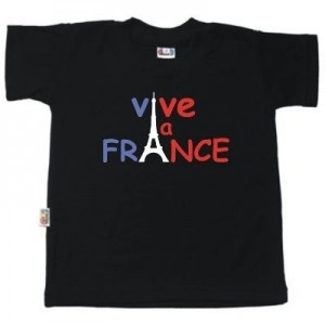 T-shirt enfant original : VIVE LA FRANCE (8 coloris)