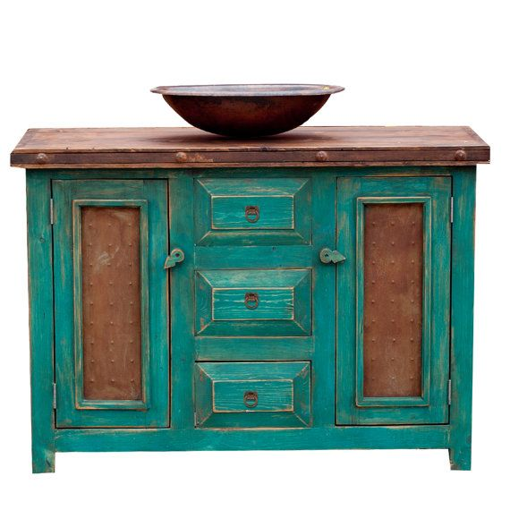 Custom Bathroom Vanities Turquoise By Foxdendecor On Etsy