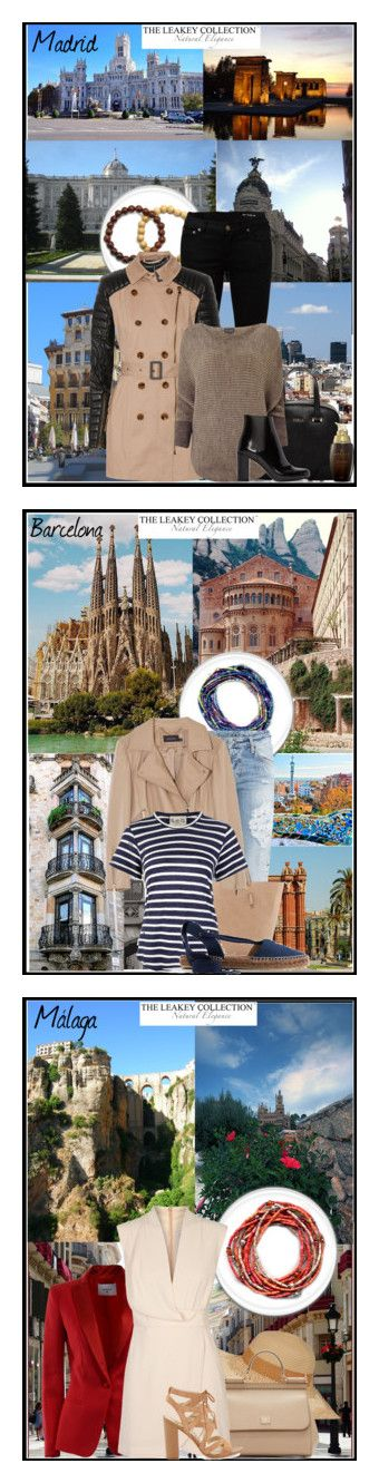 """""""Trip to Spain. The Leakey Collection."""" by nataly212 ❤ liked on Polyvore featuring Fountain, Yves Saint Laurent, W118 by Walter Baker, Furla, Phase Eight, Marula, Dsquared2, Neiman Marcus, Karen Millen and Sea, New York"""