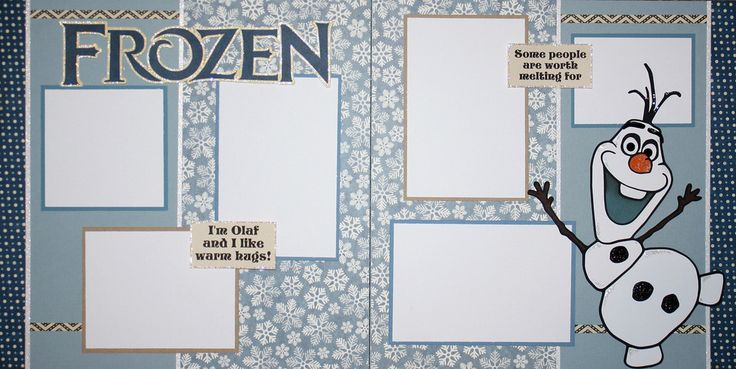 2-Page Frozen Layout Kits - itsscrapbooktime.com