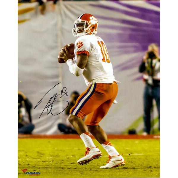 """Tajh Boyd Clemson Tigers Fanatics Authentic Autographed 16"""" x 20"""" Orange Bowl Drop Back Pass Photograph - $49.99"""