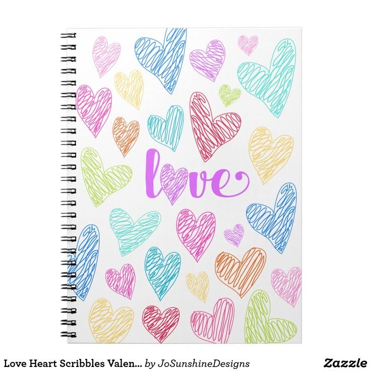 Love Heart Scribbles Valentine's Notebook Journal