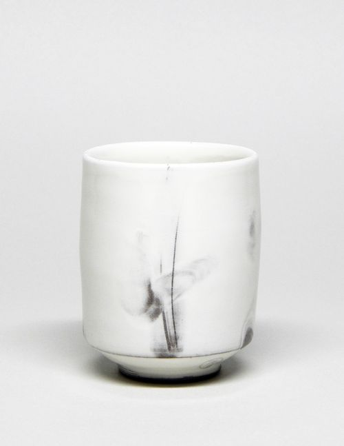 by Studio Yunomi white grey marble tumbler