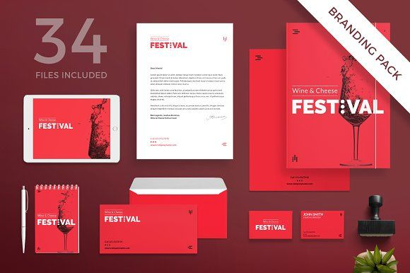 Branding Pack | Wine Festival by Amber Graphics on @creativemarket