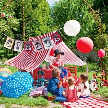 Un chapiteau de cirque pour enfant // big top, circus, kids, birthday