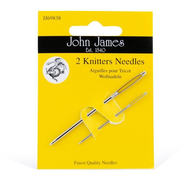 Knitters Needles - to stoppenåler holder lenge! Fra John James.
