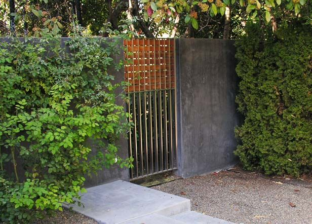 Concrete Wall With Steel/timber Gate