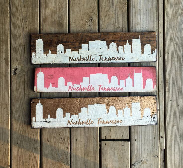 Our Nashville Tennessee skyline looks good in any color. We used reclaimed  barn wood and - 35 Best Tennessee Images On Pinterest Tennessee, Hand Painted