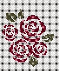 free cross stitch roses