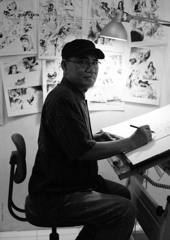 Mansjur Daman, Indonesian comic artist. Suka gaya gambarnya di majalah Bobo jaman dulu dan komiknya Mandala.