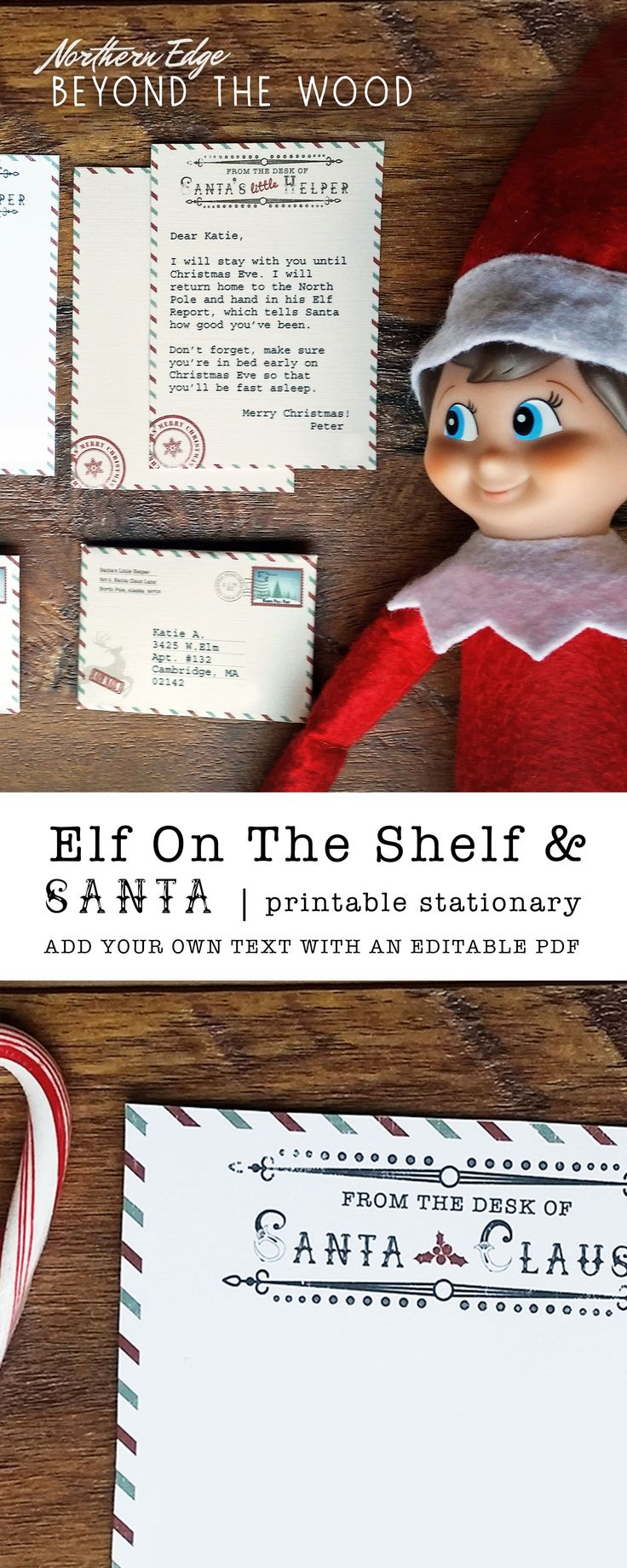 DIY Elf On The Shelf & Santa Letter. Add your own text to this downloadable PDF. elf on the shelf letter, elf on the shelf letters, elf on the shelf letter to kids, elf on the shelf letter from Santa, elf on the shelf letter printable, Elf on the shelf ideas, elf on the shelf ideas funny, elf on the shelf ideas for kids, elf on the shelf for toddlers, elf on the shelf arrival, elf on the shelf letter, santa letter, santa letter printable, santa letter to kids, santa letter template, holiday…