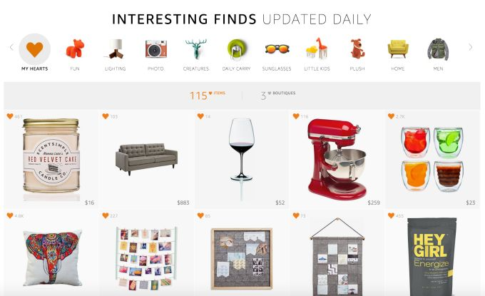 "Amazon expands its online gift shop ""Interesting Finds,"" adds human curation"