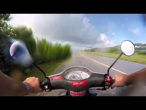 Riding a moped in Bermuda to evacuate for Hurricane Edouard 2014.  Filmed with the latest GoPro HERO3 Plus Black Edition camera on GoPro Chesty mount.  Please share and enjoy my other Bermuda videos too!