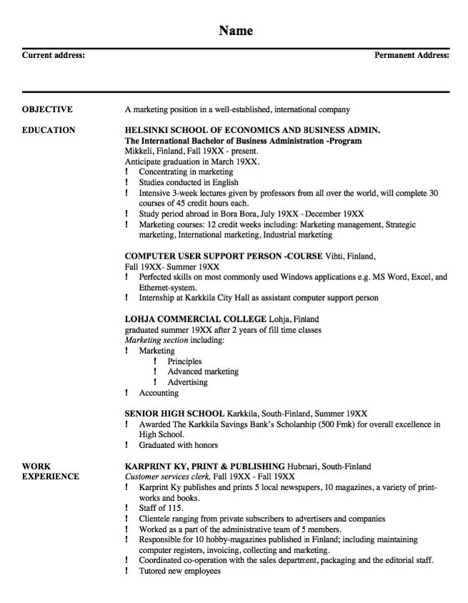 Resume Example For Building Maintenance - http\/\/resumesdesign - him clerk sample resume