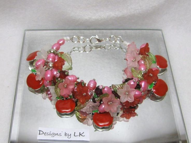 Apple Blossoms - Jewelry creation by Linda Foust
