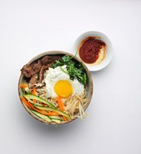 Bi Bim Bap with Beef Bulgogi