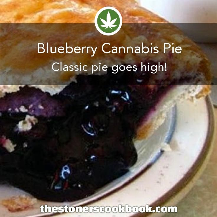 Blueberry Cannabis Pie from the The Stoner's Cookbook (http://www.thestonerscookbook.com/recipe/blueberry-cannabis-pie)
