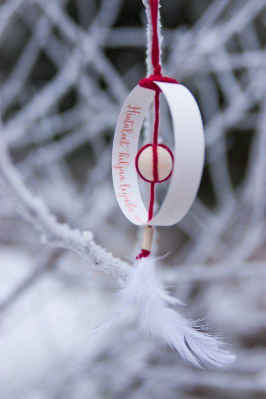 DIY julgranshänge med text | Sevendays.fi/Spira