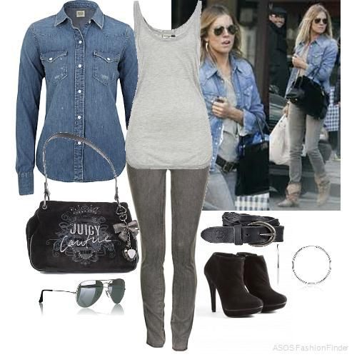 Denim Shirt Outfit by joey_c