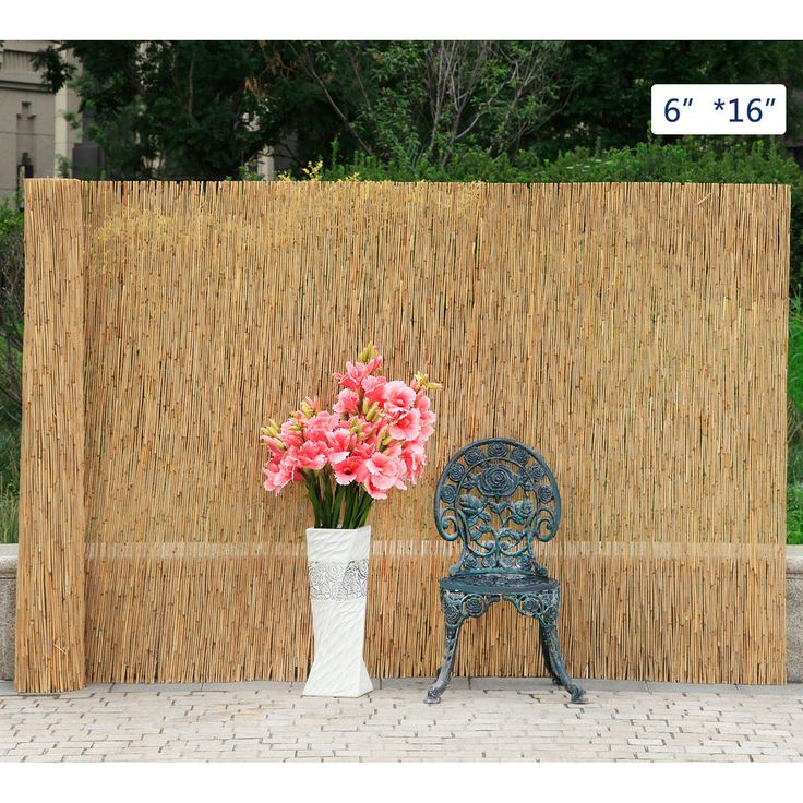 "6""X16"" Reed Screening Garden Balcony Wind Protection"