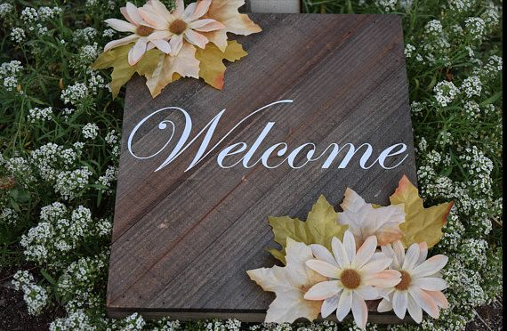 Check out this item in my Etsy shop https://www.etsy.com/ca/listing/545130570/hanging-wooden-welcome-sign