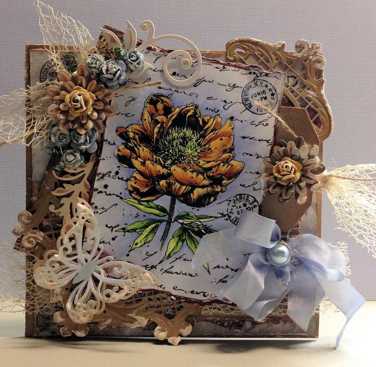 Joy! Vintage Flourish Old letter Rose 1 and 2