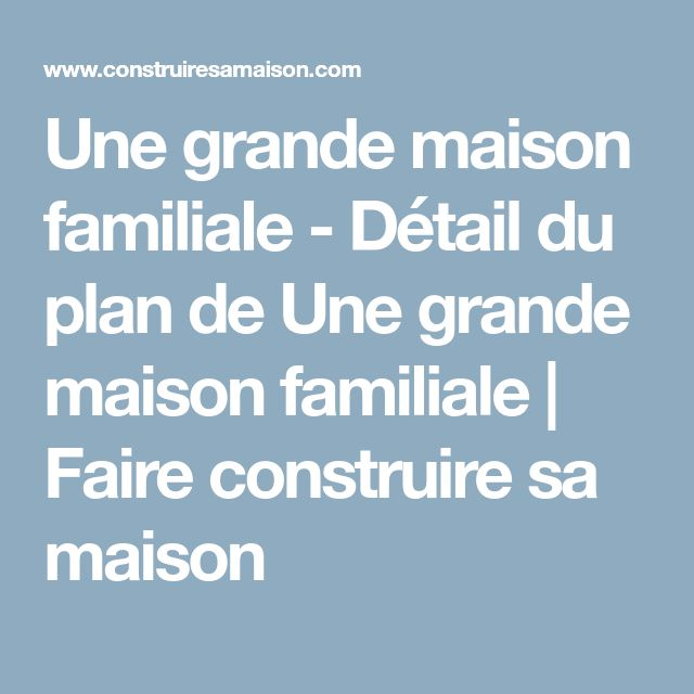 13 best plan maison images on Pinterest House blueprints, House - faire son plan maison