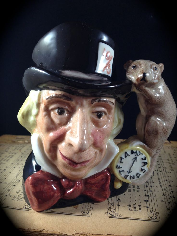 Royal Doulton Mad Hatter Character or Toby Mug Toby Jug Made in England Collectible Figurine Porcelain Man Gift Mancave or Library Decor by ThePokeyPoodle on Etsy