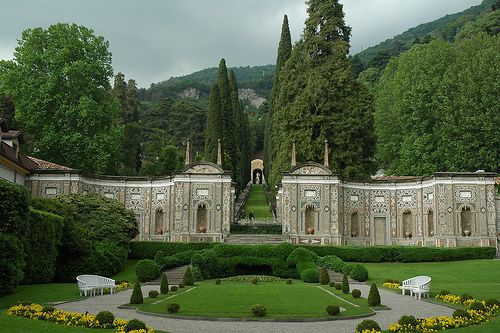 This is Villa d'Este in Lake Como Italy. Completed in 1570. Now an amazing hotel with spectacular gardens.