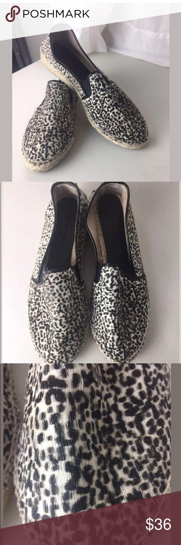 Zara Basic Calfhair Espadrilles Size 41 Zara Basic Animal print Espadrilles. Excellent preowned condition. Size 41 Zara Shoes Espadrilles