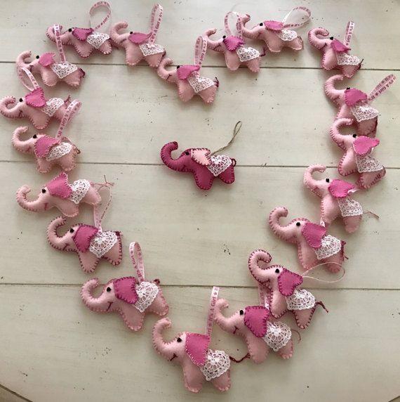 Set of 5 Valentine's Day Baby Shower Felt Baby by OlenasDesign